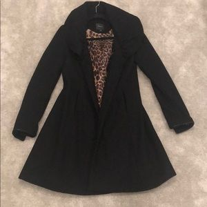 ✨flash sale!  express peacoat with leopard detail